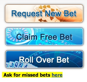 The bonus bagging trial continues: claiming a free bet.