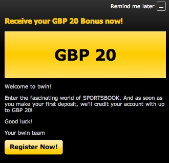 A bonus offer from Bwin.