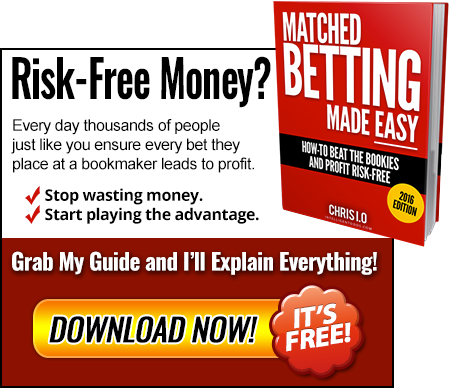Download my matched betting guide and you'll never asked how does matched betting work again!