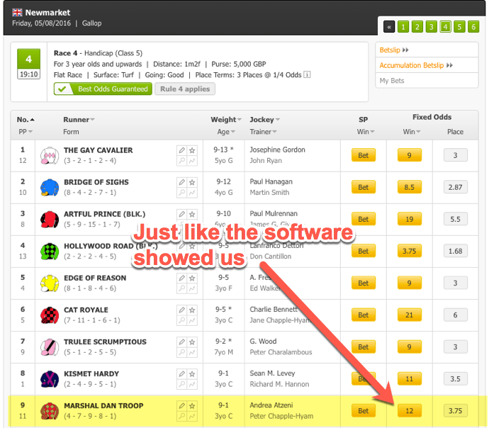 Matched Betting Automatcher Bookie Match